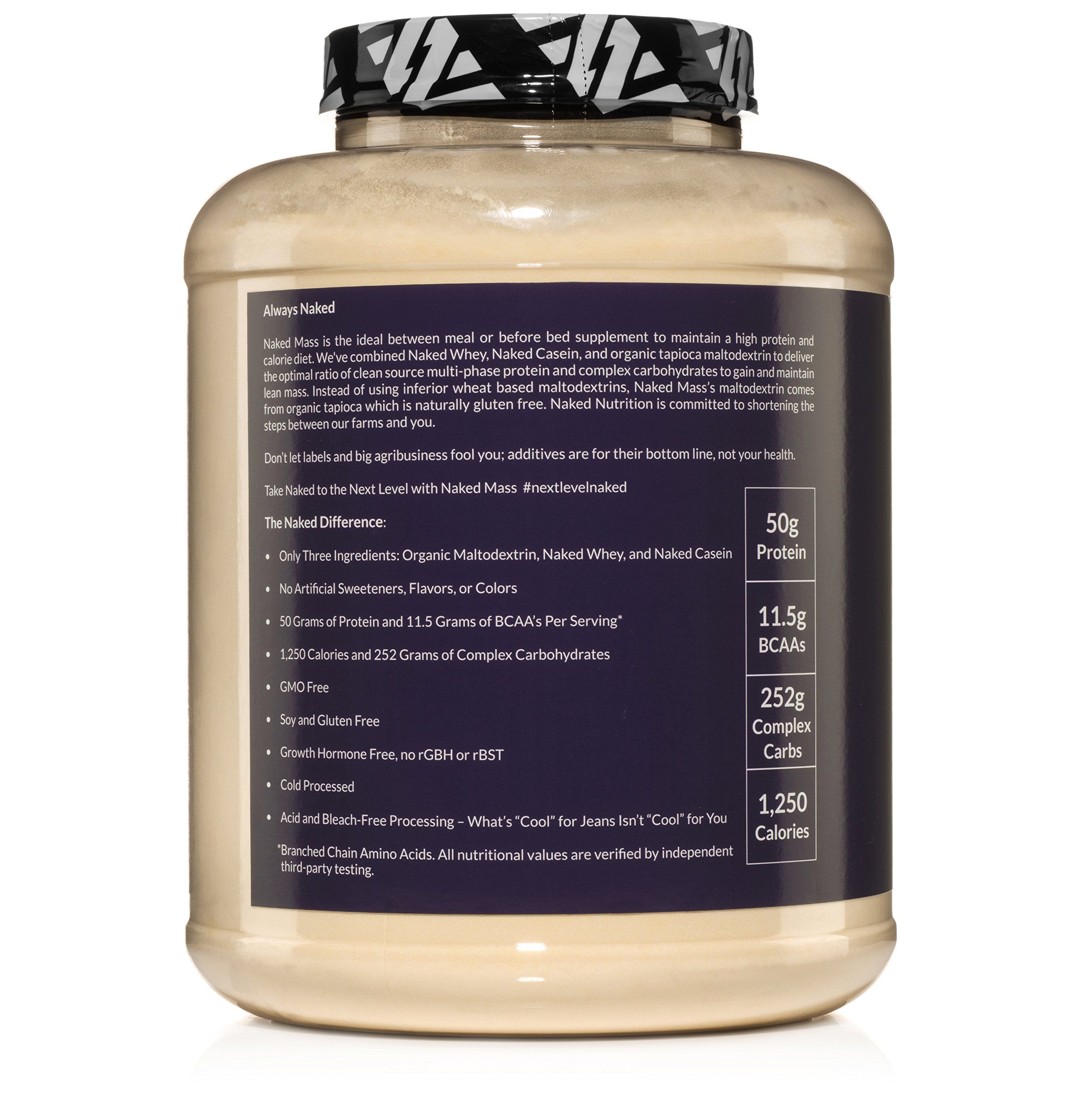 Naked Mass Natural Weight Gainer Protein Powder 8lb