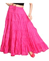 Carrel Cotton Fabric Women Broomstick Long Skirt(AGSPL-3003-SK-04)