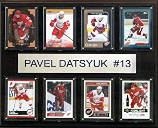 product image for NHL Detroit Red Wings Pavel Datsyuk 8-Card Plaque, 12 x 15-Inch