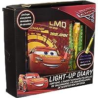 Berry Hip Diario Light Up de Cars con Candado y Pluma con Linterna