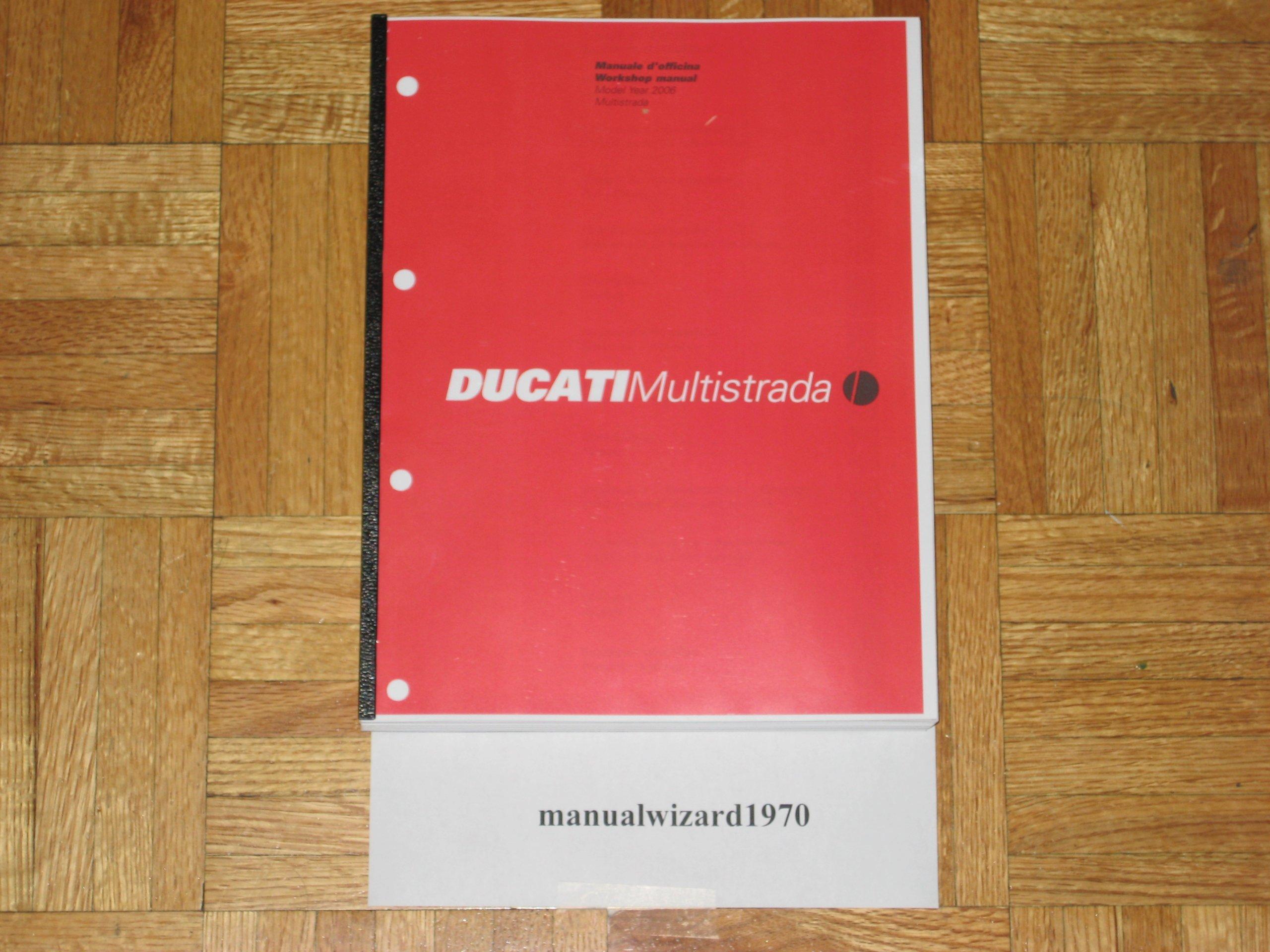 Ducati Multistrada 620 / 620 Dark MTS620 MTS 620 Service Manual Book Part#  91470591A: DMC: Amazon.com: Books
