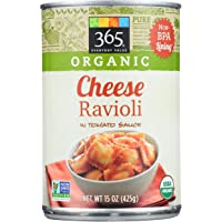 365 Everyday Value, Organic Cheese Ravioli in Tomato Sauce, 15 oz