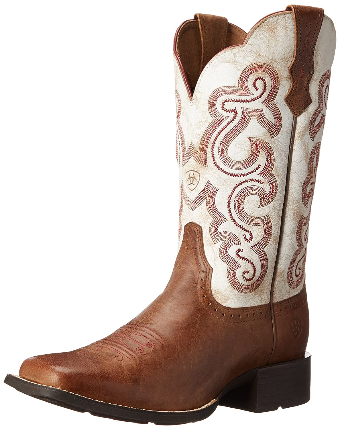 Ariat Women's Quickdraw Work Boot B00NTN1Q1M 8 B(M) US|Sandstorm/Distressed White