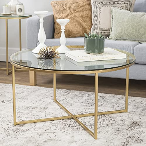 Millie 36 Inch Round Coffee Table