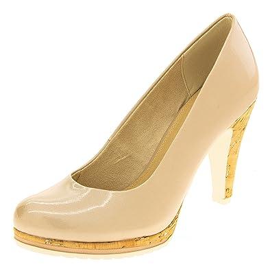 95996b60593 Footwear Studio Marco Tozzi Femme Escarpins EU 39 Beige  Amazon.fr ...