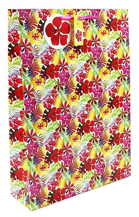 f57efc595 Extra grande regalo bolsa de transporte para mujer Floral cumpleaños get  well presente Wrap XL