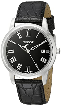 tissot classic dream t0334101605301 38 stainless steel case black tissot classic dream t0334101605301 38 stainless steel case black leather men s quartz watch