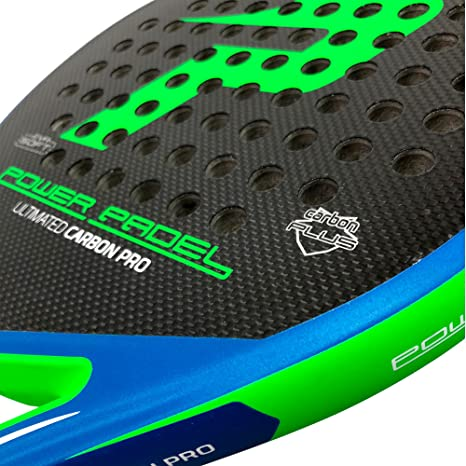 Pala Power Padel Ultimated Carbon Pro Green / Blue Mate: Amazon.es: Deportes y aire libre