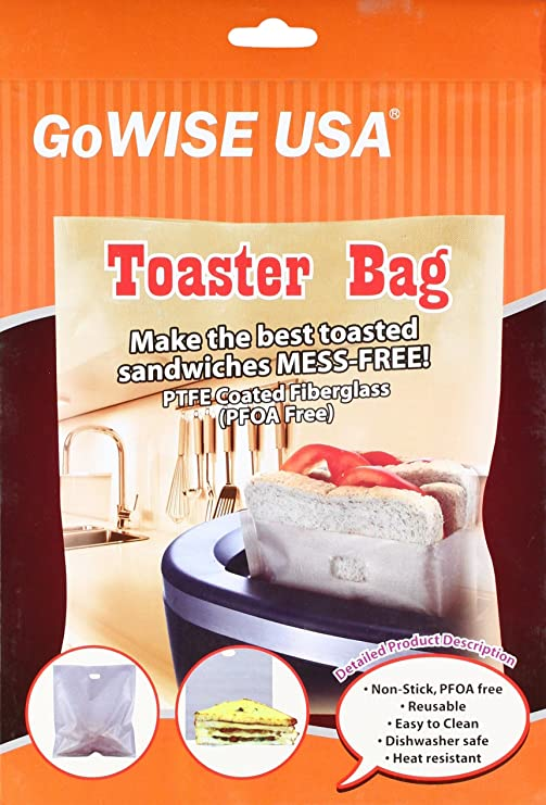 Toasted Sandwiches Easy Clean Kitchen Craft Non-Stick x 2 Reusable Toaster Bags