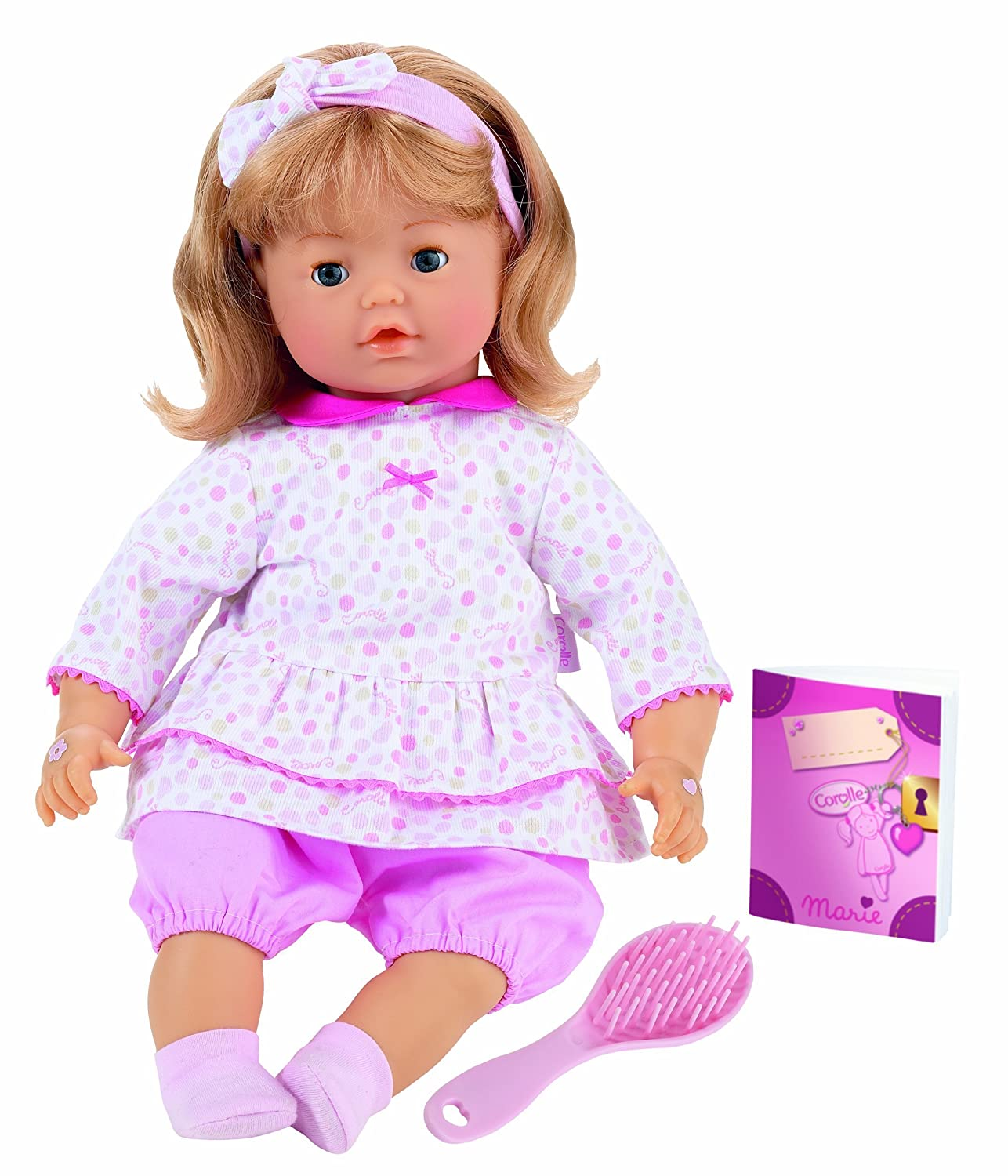 Amazon Com Corolle Special Feature Baby Doll Marie Interactive 17