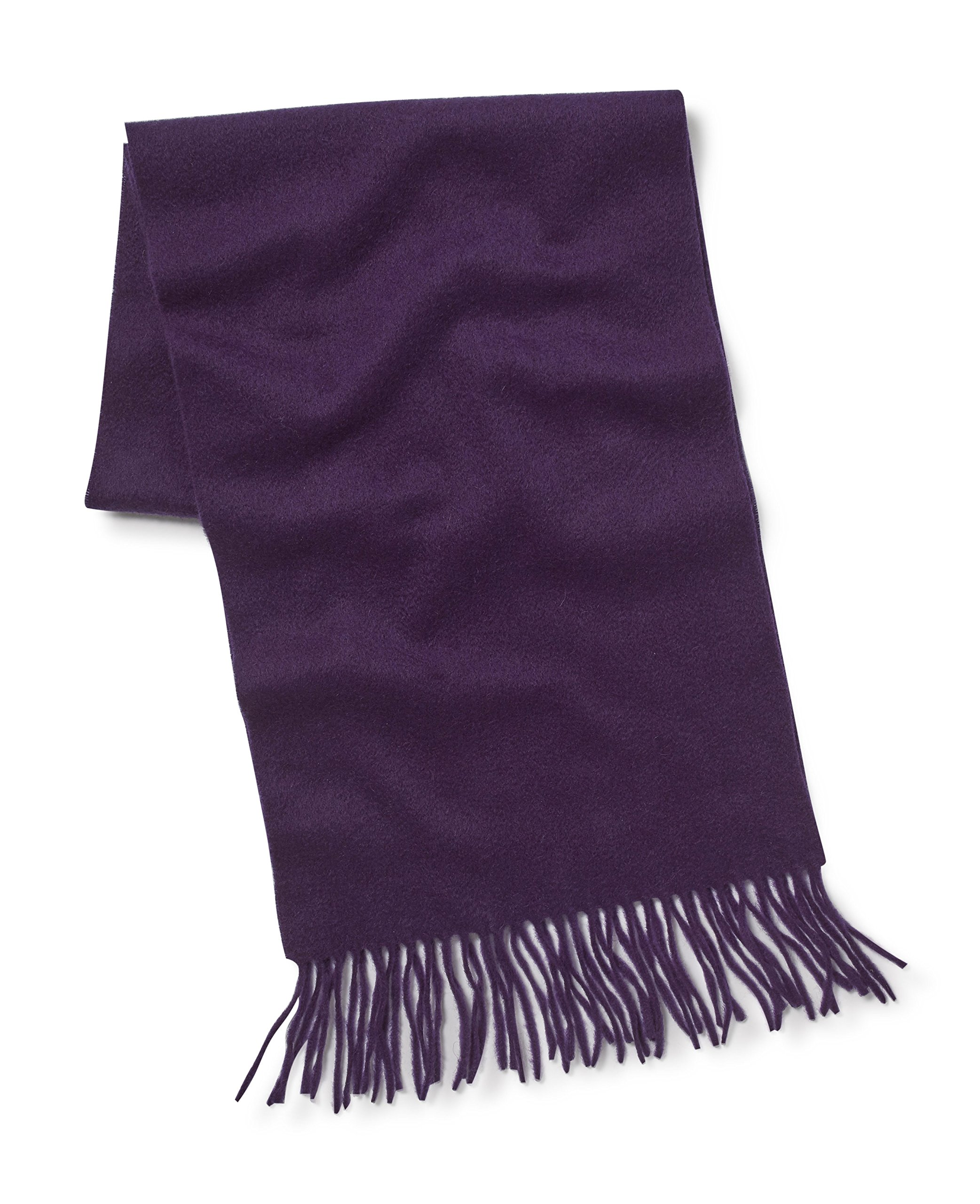 Savile Row Men's Purple Cashmere Scarf in Gift Box