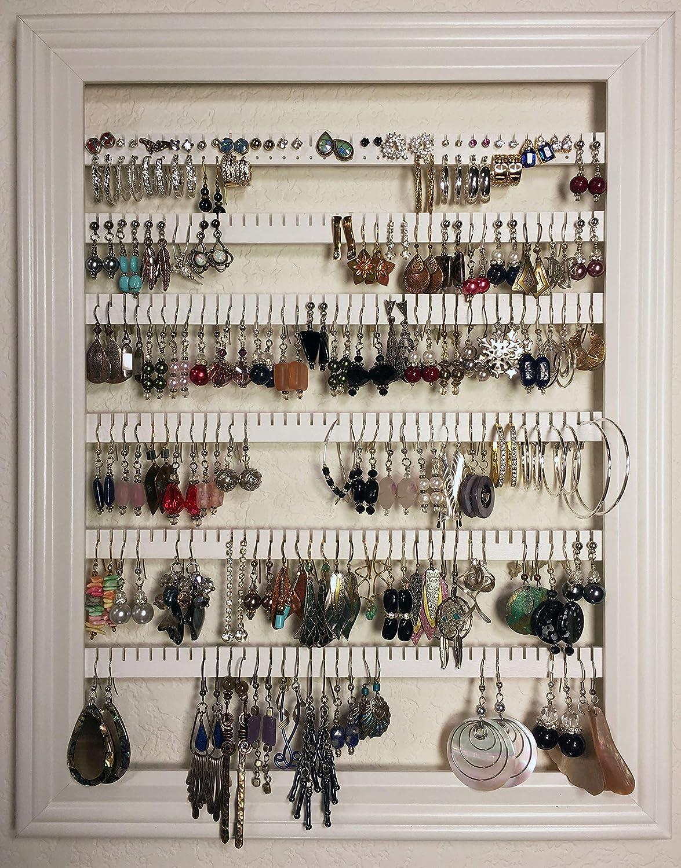 Amazoncom Earring Holder Organizer Storage Jewelry Rack Wall
