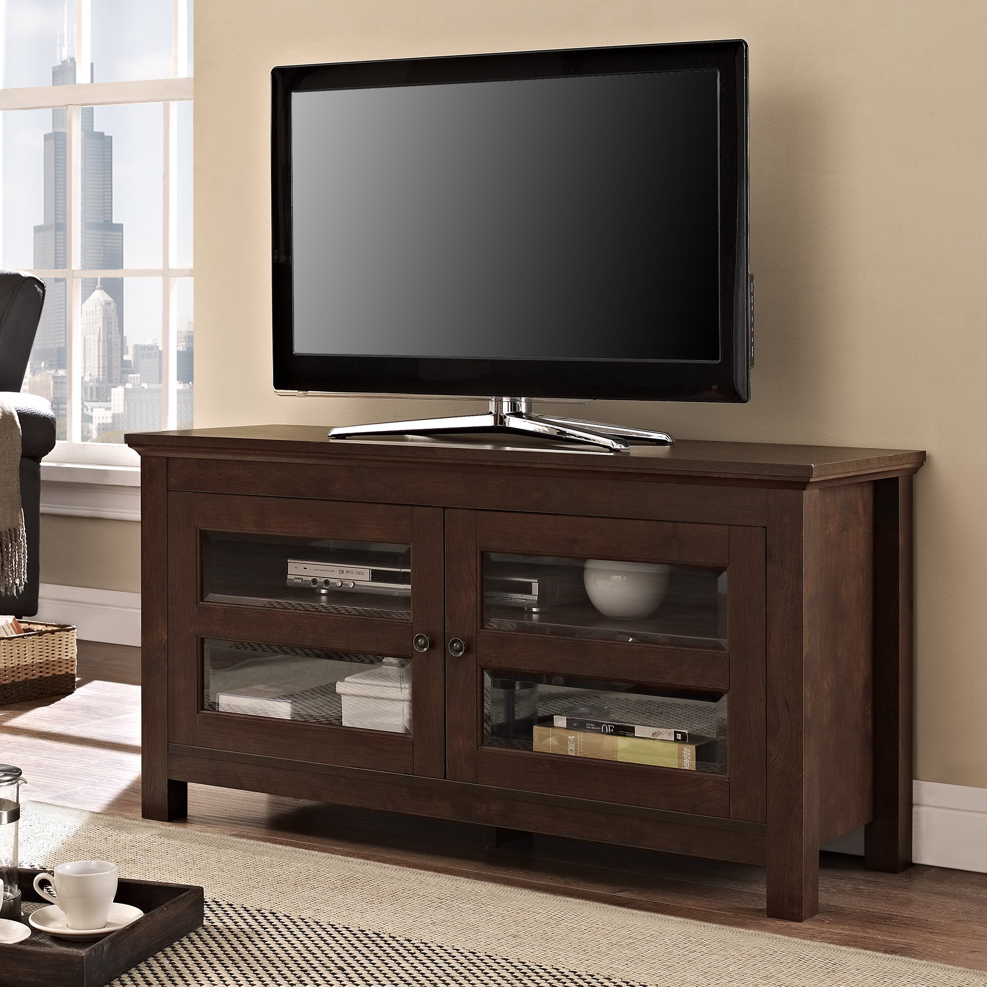 Walker Edison 44'' Coronado TV Stand Console, Brown by MidWest Homes for Pets