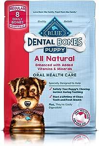 Blue Dental Bones Natural Dog Chews