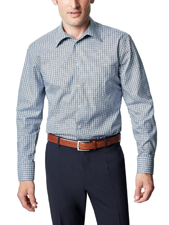 Walbusch Herren Hemd Bügelfrei-Hemd Kragen ohne Knopf Comfort Fit kariert B07FV8HKXY Freizeit Charakteristisch