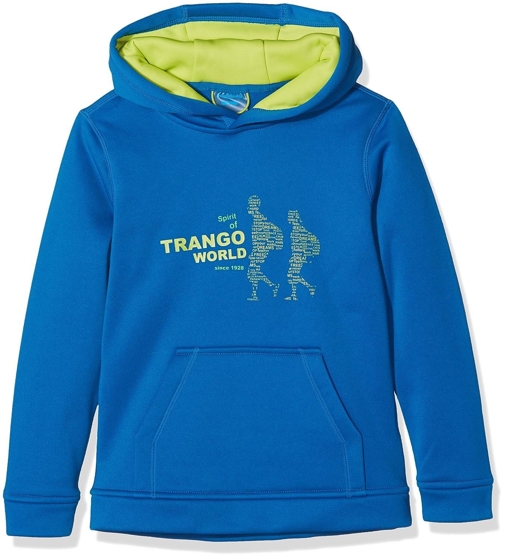 TRANGO PC007209 Sudadera con Capucha Infantil, Multicolor (623 - Azul Imperial/Verde Claro), 6 años Trangoworld