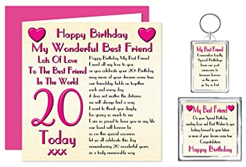 Best Friend 20th Happy Birthday Gift Set