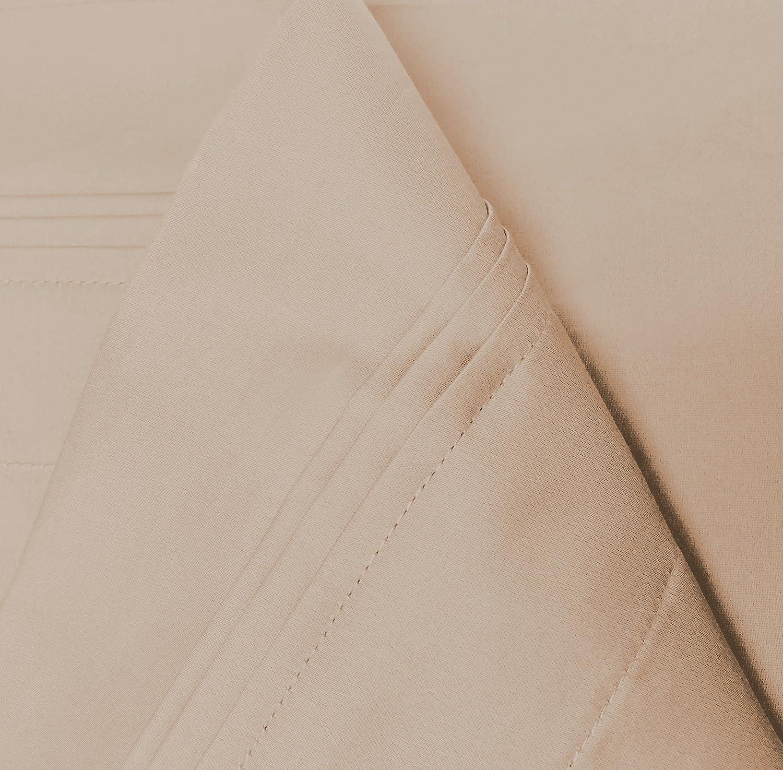 Plum Single Ply Standard 2-Piece Pillowcase Set Solid Superior 100/% Egyptian Cotton 650 Thread Count