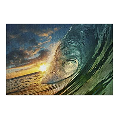 Ocean Wave & Colorful Sunset 9002654 (Premium 1000 Piece Jigsaw Puzzle for Adults, 20x30, Made in USA!): Toys & Games