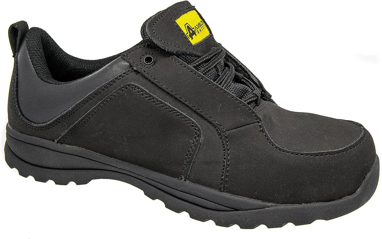Ladies Women Safety Toe Cap Shoes Black