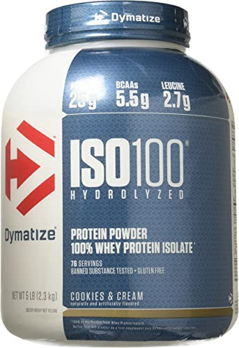 Dymatize Nutrition ISO 100 Whey Protein – Cookies and Cream 5 lbs.