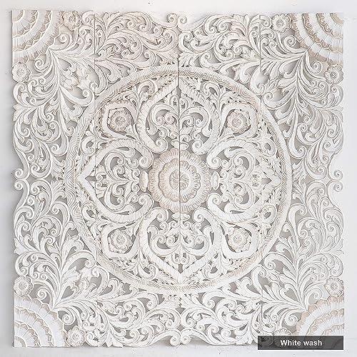 Amazon Com Bohemian King Size Bed Headboard Wooden Wall Art Panels