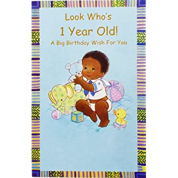 Look Whos 1 Year Old A Big 1st Birthday Wish For You Greeting Card
