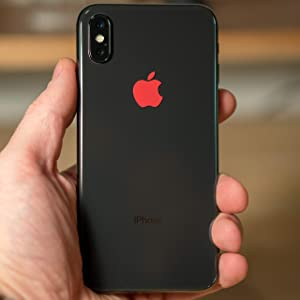 Apple Logo Cover Sticker for The iPhone X and iPhone 8 (Gold, iPhone)