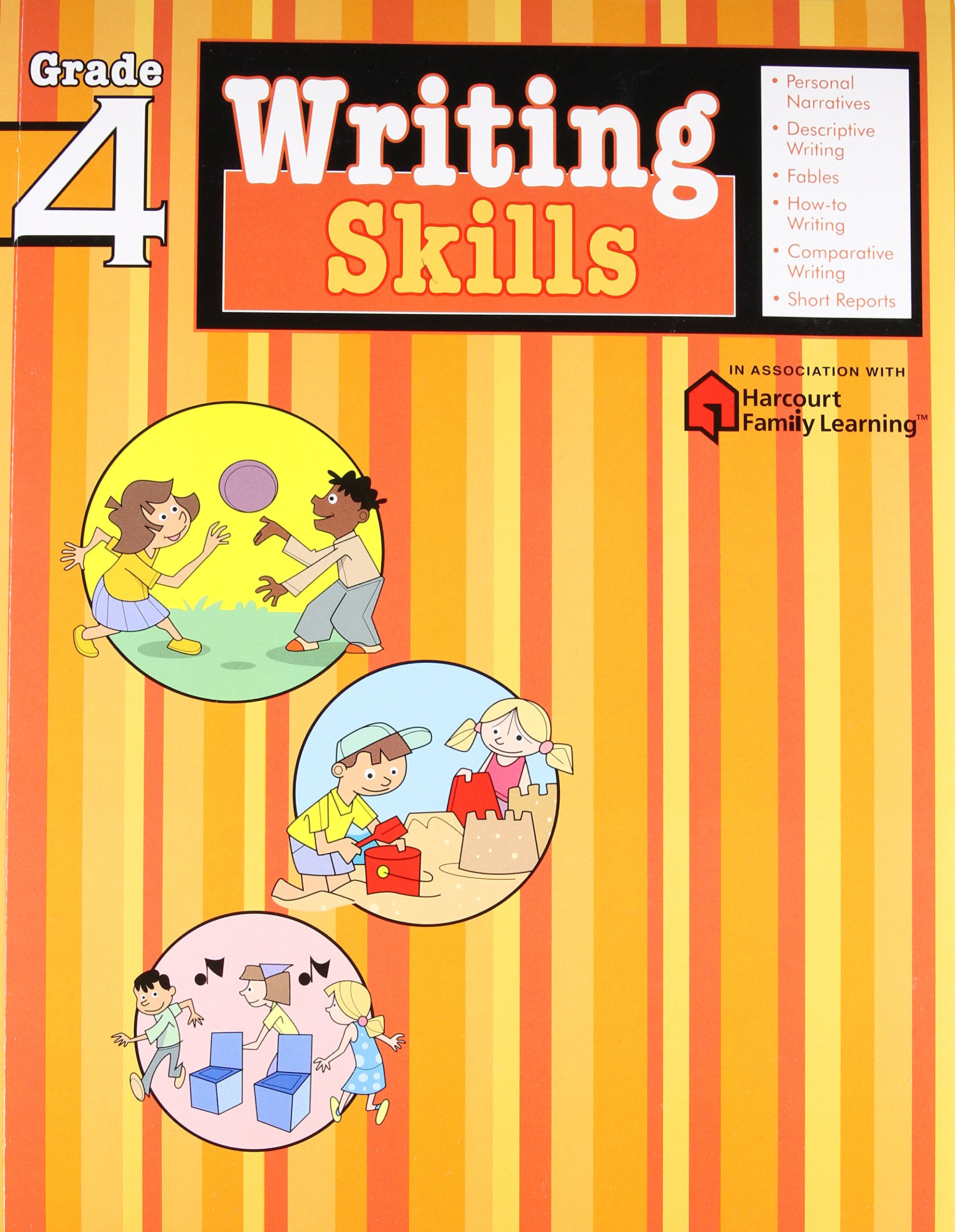 Writing Skills: Grade 4 (Flash Kids Harcourt Family Learning): Flash Kids  Editors: 9781411404847: Amazon.com: Books