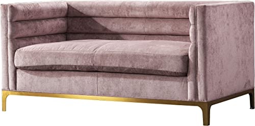 Acanva Luxury Modern Tufted Velvet Down-Filled Living Room Sofa