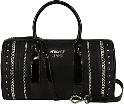 c20939ad86 Versace Jeans Women Chain and Stud Bowling Bag Black: Amazon.co.uk: Shoes &  Bags