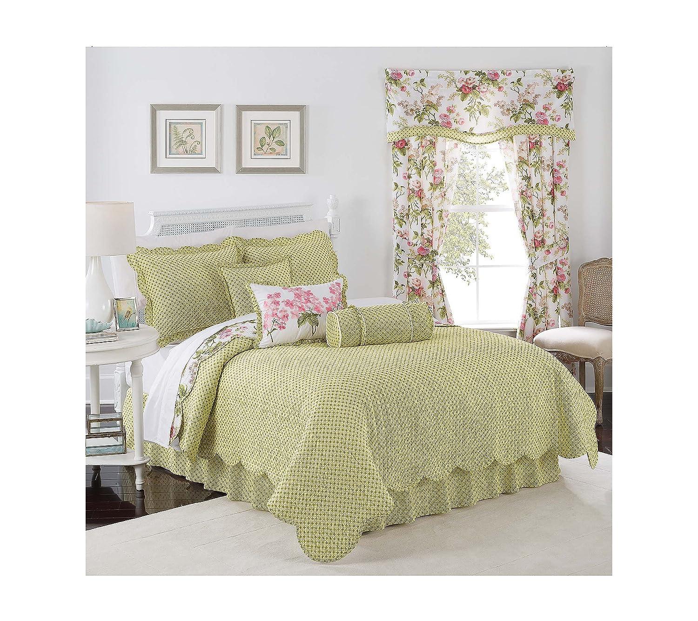 amazoncom waverly emmau0027s garden reversible quilt set king quilt set home u0026 kitchen - Waverly Bedding