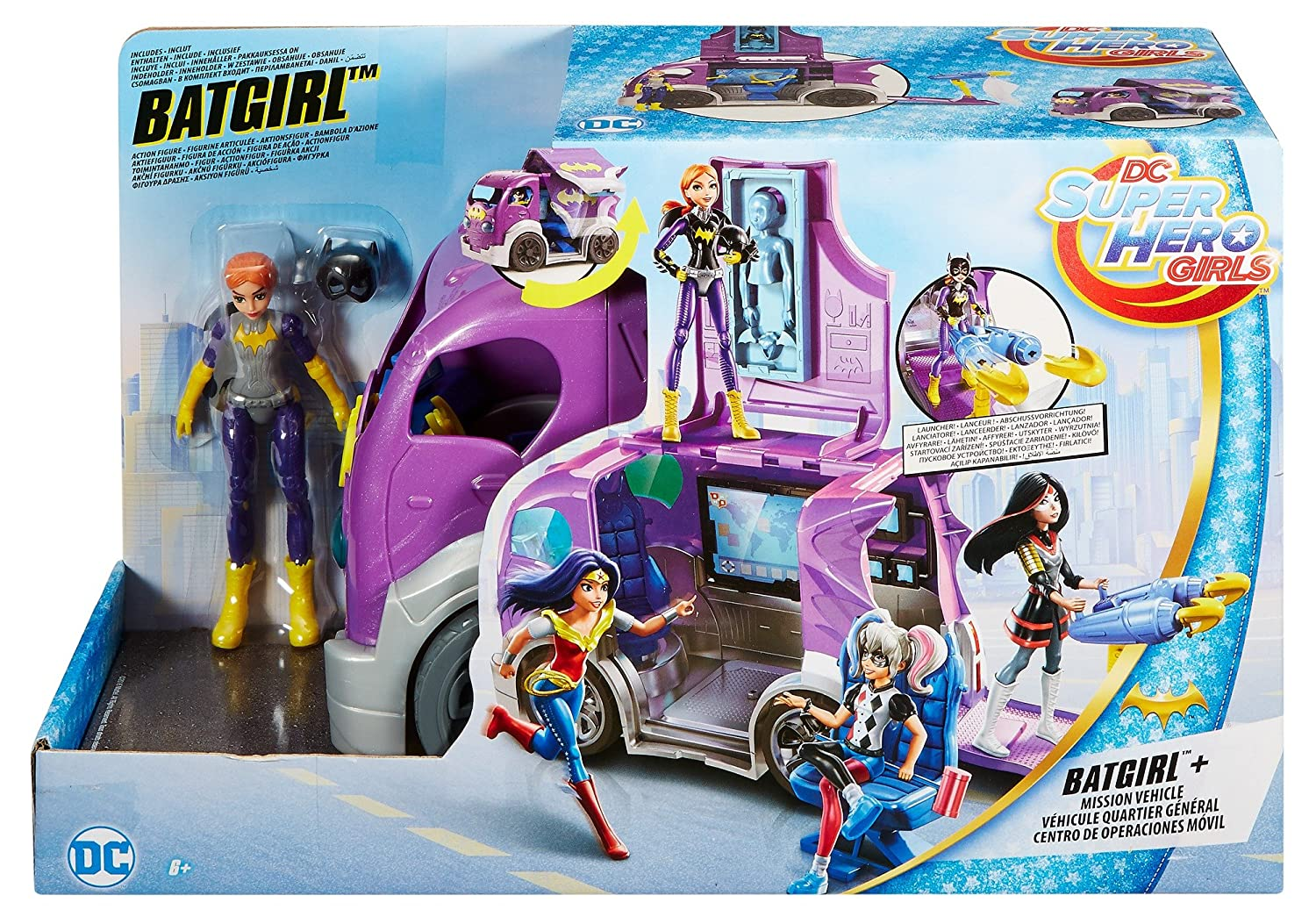Dc Super Hero Girls Dvg94 Batgirl Mission Vehicle Dc Comics