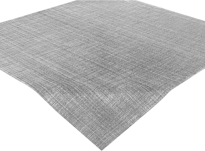 Delindo Lifestyle Mantel mesa SAMBA gris, impermeable, antimanchas, casa y jardin, moderno, cuadrado 85x85 cm