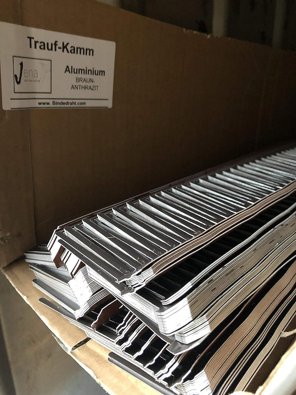 Traufkamm aus Alu braunanthrazit Aluminium Traufenkamm