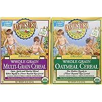 Earth's Best Organic Whole Grain Oatmeal & Multi-grain Cereal (One 8 Oz Box of Each) by Earth's Best