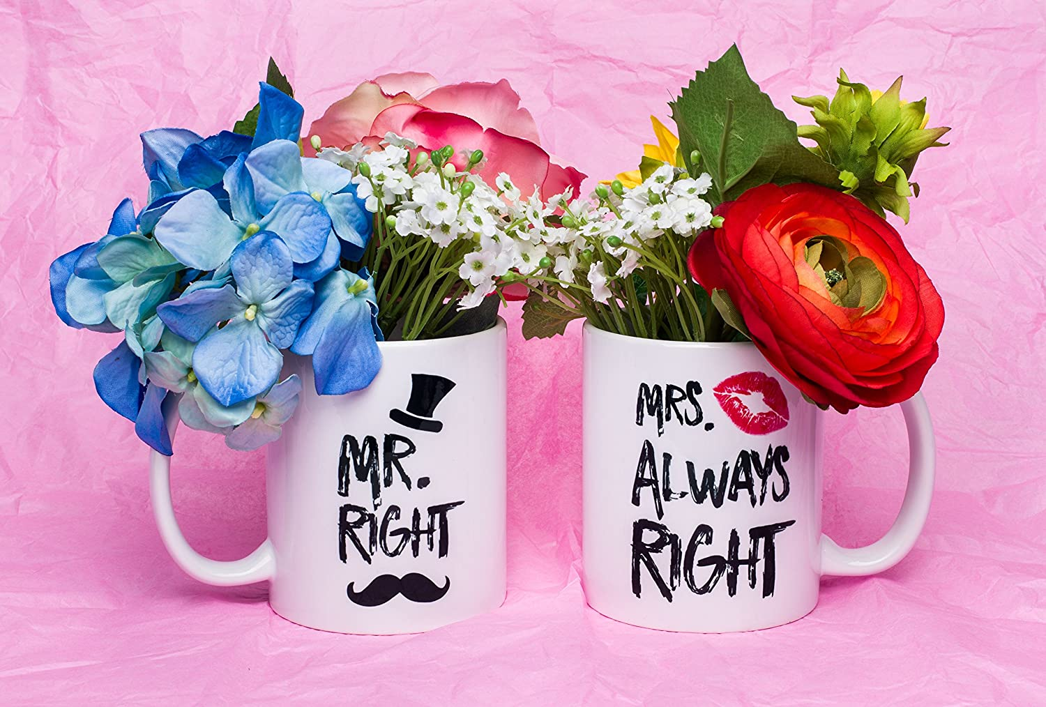 Amazon.com: Funny Wedding Gifts - Mr. Right and Mrs. Always Right ...