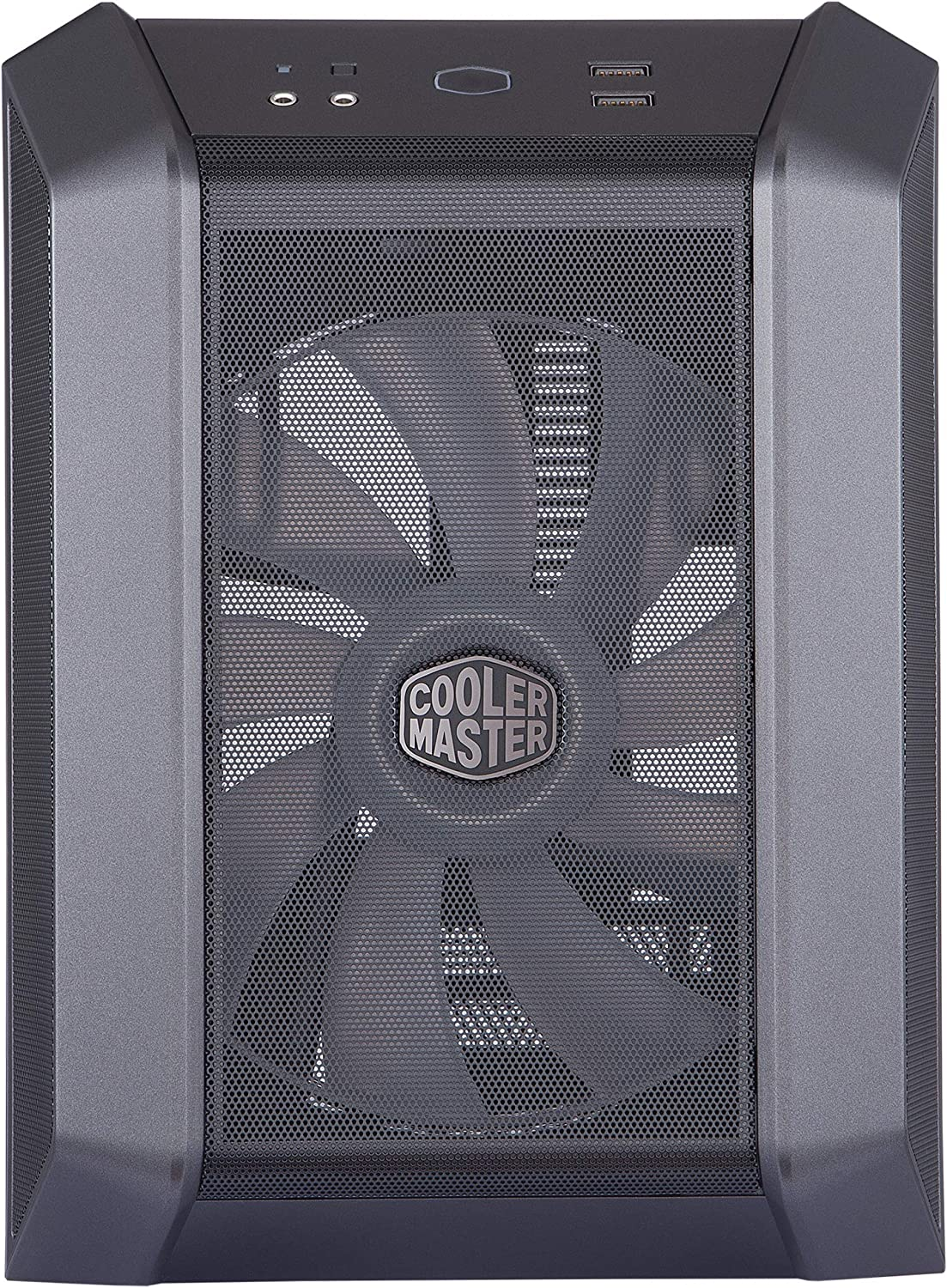 Fine Mesh Front Panel Built-in Handle /& RGB Lighting Control Cooler Master MasterCase H100 Mini-ITX PC Case with 200mm RGB Fan