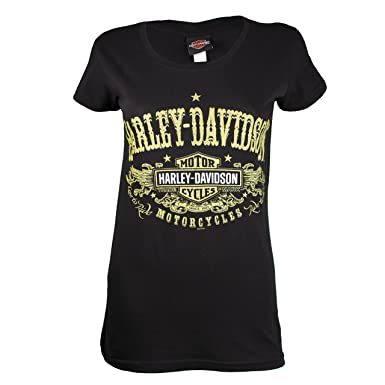 2164e383 Harley-Davidson Women's Sturgis After Gold T-Shirt at Amazon Women's ...
