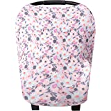 """Baby Car Seat Cover Canopy and Nursing Cover Multi-Use Stretchy 5 in 1 Gift """"Morgan"""" by Copper Pearl"""