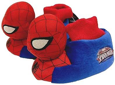 76fee24d852 Marvel Spider-Man Boys Red 3D Childrens Soft Plush Kids Slip Ons (7.5 UK