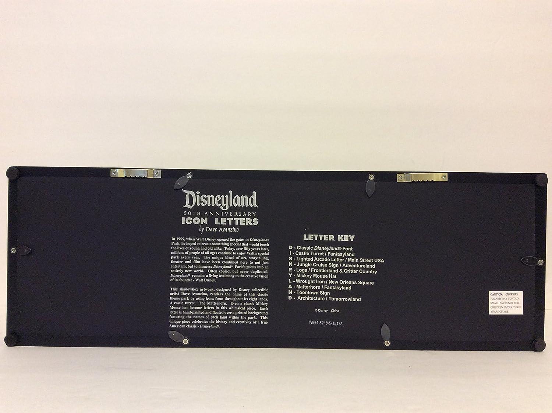 Disney Parks Disneyland Icon Letters Wall Art Shadow Box by Dave Avanzino