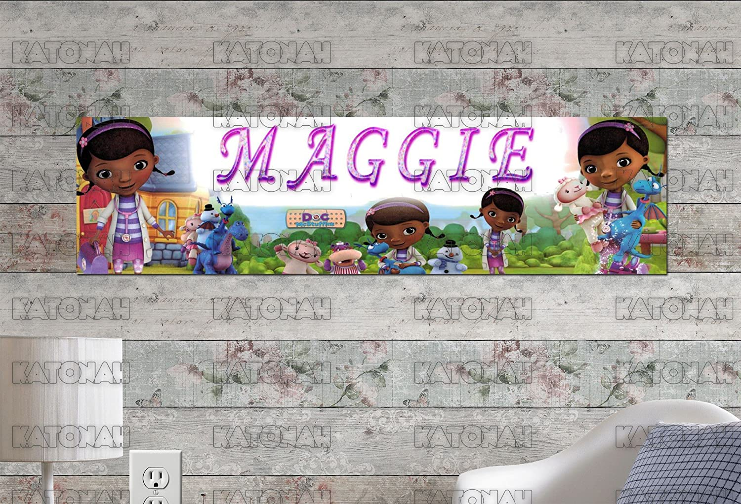Personalized//Customized Doc McStuffins Name Poster Wall Art Decoration Banner