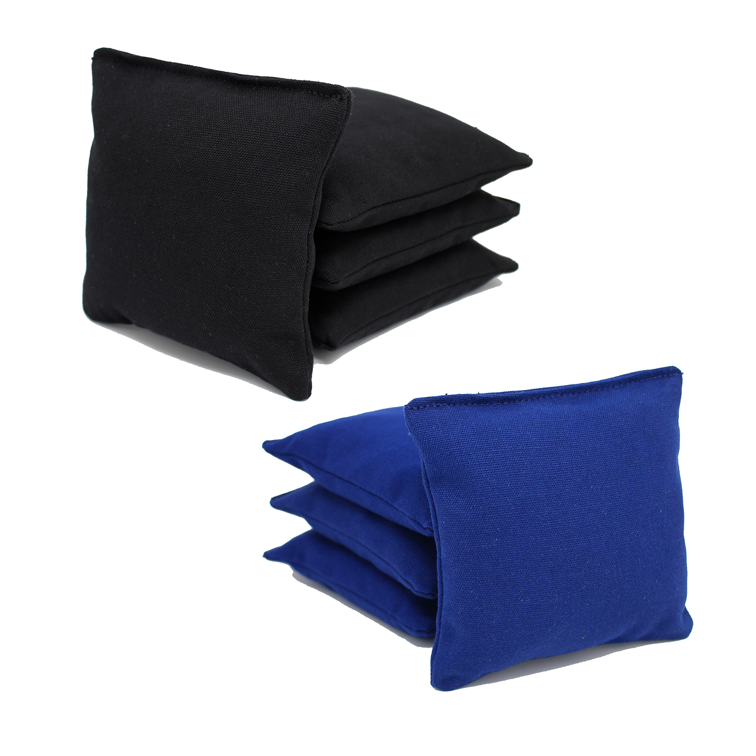 Free Donkey Sports ACA Regulation Cornhole Bags (Set of 8) (Black and Royal) 25+ Colors to Choose from.