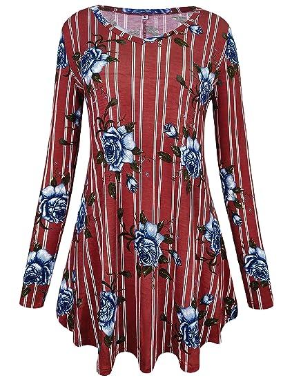 Amazon Com Aifer Women S Casual Crewneck Color Block Long Sleeve