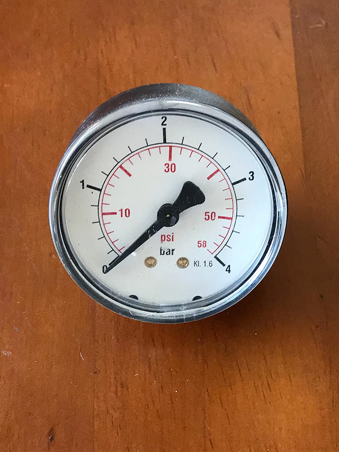 1/4� Pressure gauge back mounted for solvent filter pressure on Firbimatic, Union, Realstar dry cleaning machines A7361