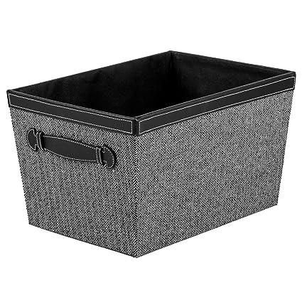 ca0b7444a9ab Creative Scents Fabric Decorative Storage Basket (Herringbone)