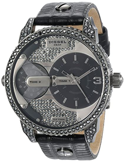 Diesel Reloj analogico para Hombre de Cuarzo con Correa en Piel DZ7328: Amazon.es: Relojes