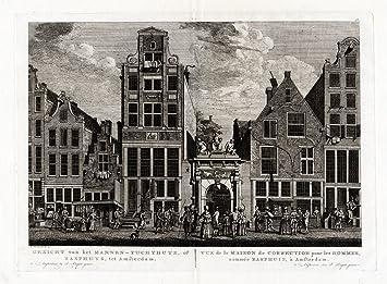 Amazon.com: 2 de prints-amsterdam-netherlands-men antiguo ...