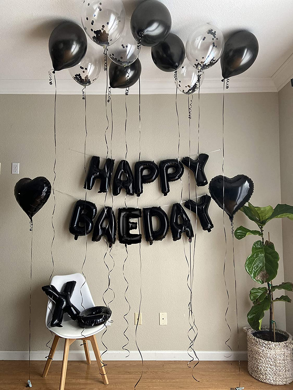 Happy Baeday Rose Gold And Black Balloons Set Valentines Day Balloons Party Set For Birthday Party Decorations For Selfie And Group Photos 40 Xo Letters Balloons Black 2 00 Amazon De Drogerie Korperpflege